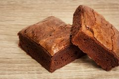 Delicious Chocolate Brownies Stock Image