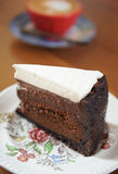Delicious chocolate cake Royalty Free Stock Images