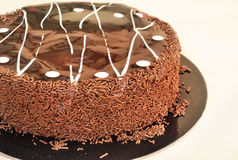 Delicious chocolate cake with truffle Stock Image
