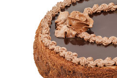 Delicious chocolate cake Royalty Free Stock Photos