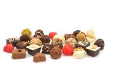 Delicious chocolate candies Stock Images