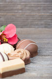 Delicious chocolate candies Royalty Free Stock Image
