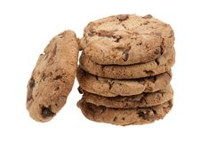 Delicious chocolate chip cookies Stock Photography