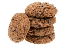 Delicious chocolate chip cookies Royalty Free Stock Photo