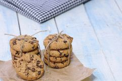 Delicious chocolate chip cookies Stock Image