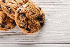 Delicious chocolate chip cookies Royalty Free Stock Images