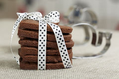 Delicious chocolate cookies Royalty Free Stock Photo