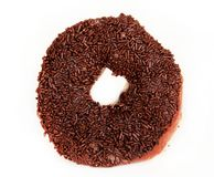 Delicious chocolate (doughnut) isolated Royalty Free Stock Images