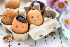 Chocolate Easter Eggs. Delicious Chocolate Easter Eggs for an Happy Easter Stock Photography