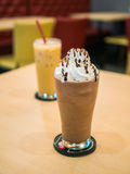 Delicious chocolate frappe Royalty Free Stock Photography