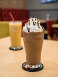 Delicious chocolate frappe Royalty Free Stock Image