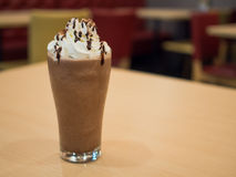 Delicious chocolate frappe Stock Image