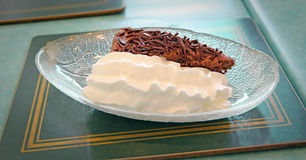 Delicious chocolate fudge pie Royalty Free Stock Photography