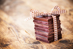 Delicious chocolate gifts, hand made. Stock Photos