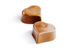 Delicious  chocolate hearts Stock Image