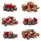 Delicious chocolate and hearts Royalty Free Stock Photo