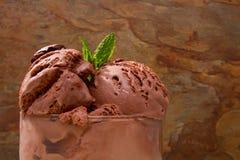 Delicious chocolate ice cream Stock Images