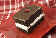 Delicious Chocolate Layer Cake Stock Photo