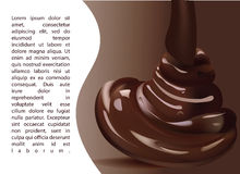 Delicious Chocolate Melted Template.   Realistic Vector Illustration Stock Photos