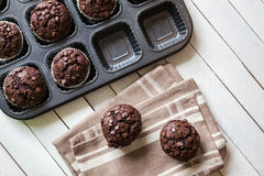 Delicious Chocolate Muffins Stock Photos