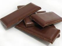 Delicious chocolate pieces Stock Photos
