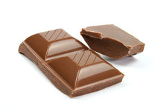 Delicious chocolate pieces close-up Royalty Free Stock Image