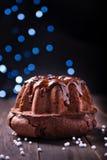 Delicious chocolate pound cake Royalty Free Stock Photos
