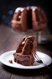 Delicious chocolate pound cake Royalty Free Stock Photos