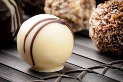 Delicious chocolate pralines Stock Photography