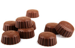 Delicious Chocolate Pralines Stock Image