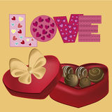 Delicious chocolate present Stock Images
