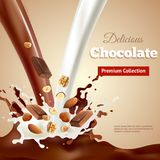Delicious Chocolate Realistic Illustration Stock Photography