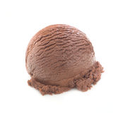 Delicious chocolate scoop. Isolated on white background Stock Photography