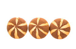 Delicious chocolate striped cookies Stock Image