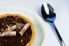 Delicious Chocolate Tart Royalty Free Stock Photos