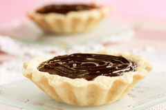 Delicious chocolate tarts Royalty Free Stock Photos