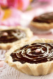 Delicious chocolate tarts Stock Photos