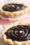 Delicious chocolate tarts Stock Images