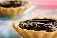 Delicious chocolate tarts Royalty Free Stock Photography