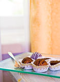 Delicious chocolate treats Royalty Free Stock Photography