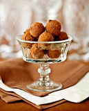 Delicious chocolate truffles Royalty Free Stock Photos