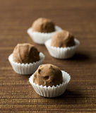 Delicious chocolate truffles royalty free stock photo