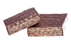 Delicious chocolate wafer Stock Image