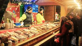 Delicious chocolate at the Xmas market in Luxembourg Stock Photography