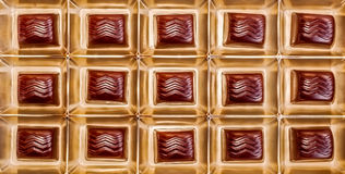 Delicious chocolates in gift box Royalty Free Stock Photos