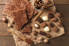 Delicious chocolates Royalty Free Stock Photos