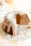Delicious Christmas bundt Stock Image
