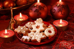 Delicious Christmas cookies Stock Photography