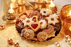 Delicious Christmas cookies Royalty Free Stock Photography