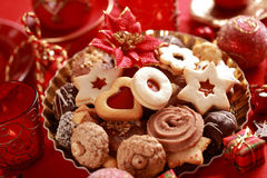 Delicious Christmas cookies Royalty Free Stock Photos